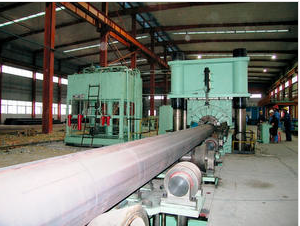 Main structure of pipe calibration press